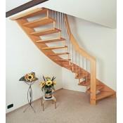 mediniai  laiptai su porankiu A055